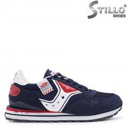 Pantofi sport pentru barbati de culoare albastru,alb si rosu - 37269
