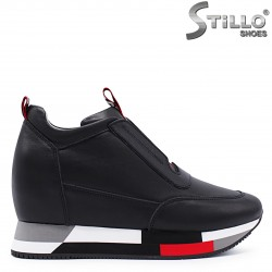 Sneakers dama din piele naturala si cu platforma – 37291