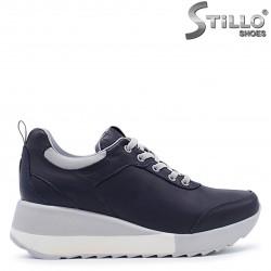 Pantofi dama sport pe platforma din piele naturala – 37367