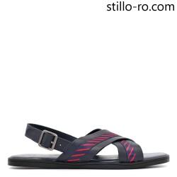 Sandale de barbat bleumarin din piele naturala - 29024
