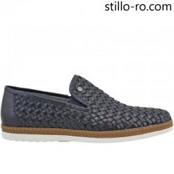 Pantofi de barbat sport eleganti in albastru si maro - 26919
